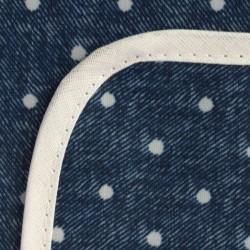 Mantel Impermeable lunares azul y blanco