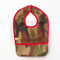Babero militar borde rojo