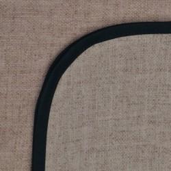 Mantel Impermeable liso beige borde negro