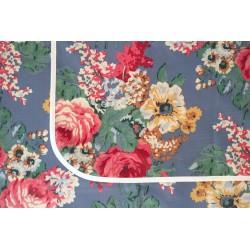 mantel impermeable flores vintage fondo celste