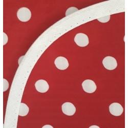 Mantel Impermeable lunares grandes rojo y blanco