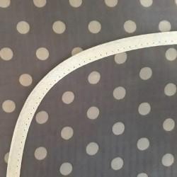 Mantel Impermeable lunares grandes gris
