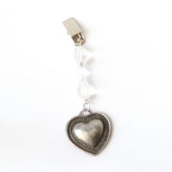 Pesa mantel corazon plata