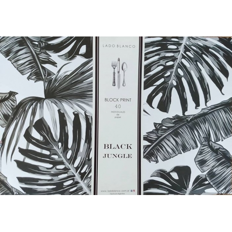 Individual papel black jungle