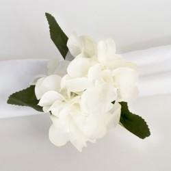 Servilletero hortensia blanca