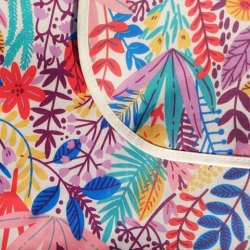 Mantel impermeable flores dibujo