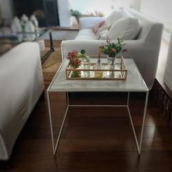 Mesa arrime A carrara blanca