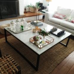 Mesa ratona cuadrada - Carrara - negra