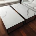 Mesa ratona - Carrara satinado - negra - 160x80