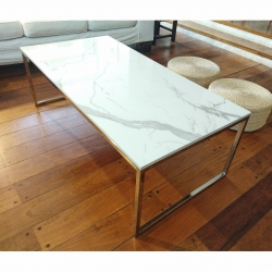 Mesa ratona - Carrara - plateada - 120x60