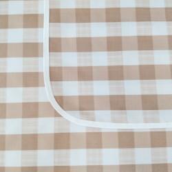 Mantel impermeable Escoces Beige