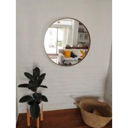 espejo redondo dorado 80cm