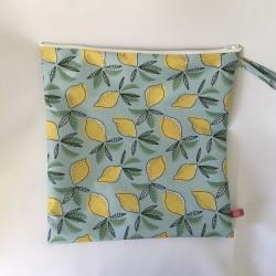 Neceser cuadrado limones