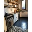 Mueble de cocina Pili a medida laqueado blanco brillante