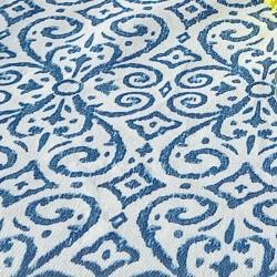 Mantel gabardina dibujos azules