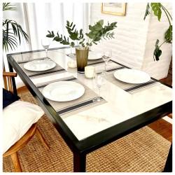 Mesa comedor / escritorio - Carrara - negra - 152x86
