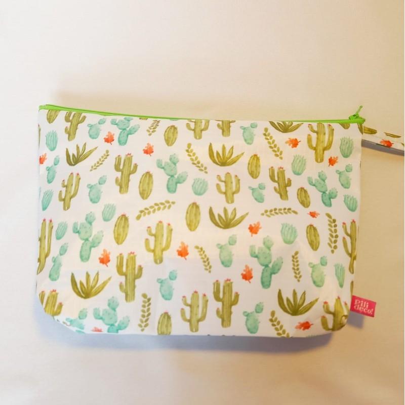 Neceser rectangular cactus