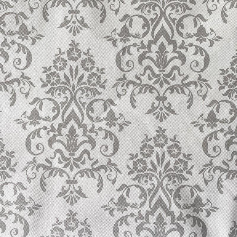 Mantel gabardina blanco arabesco gris
