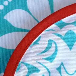 Mantel de género Flor de liz aqua
