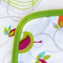 Mantel de género Pajaros y jaulas borde verde